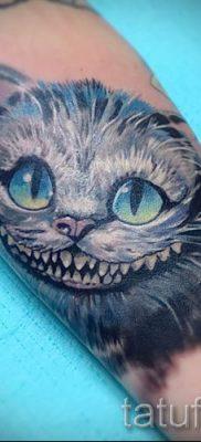 Фото тату Чеширский кот для статьи про значение рисунка татуировки – tatufoto.ru – 38