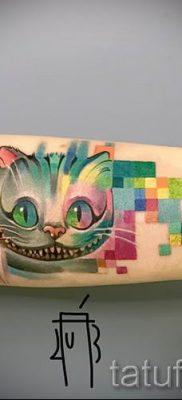Фото тату Чеширский кот для статьи про значение рисунка татуировки – tatufoto.ru – 39