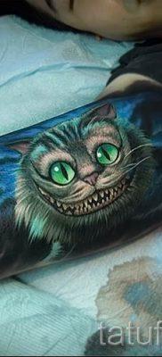 Фото тату Чеширский кот для статьи про значение рисунка татуировки – tatufoto.ru – 40