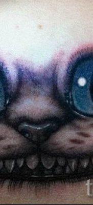 Фото тату Чеширский кот для статьи про значение рисунка татуировки – tatufoto.ru – 43