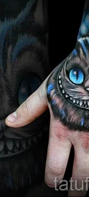 Фото тату Чеширский кот для статьи про значение рисунка татуировки – tatufoto.ru – 45