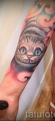 Фото тату Чеширский кот для статьи про значение рисунка татуировки – tatufoto.ru – 46