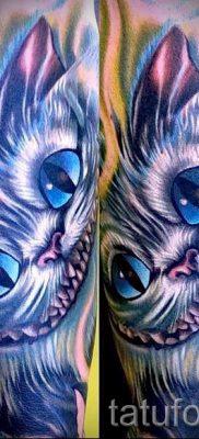 Фото тату Чеширский кот для статьи про значение рисунка татуировки – tatufoto.ru – 49