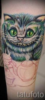 Фото тату Чеширский кот для статьи про значение рисунка татуировки – tatufoto.ru – 51