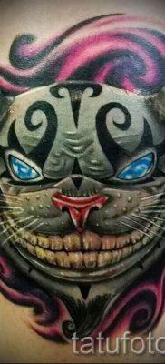 Фото тату Чеширский кот для статьи про значение рисунка татуировки – tatufoto.ru – 54