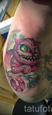 Фото тату Чеширский кот для статьи про значение рисунка татуировки – tatufoto.ru – 56