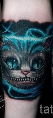 Фото тату Чеширский кот для статьи про значение рисунка татуировки – tatufoto.ru – 58