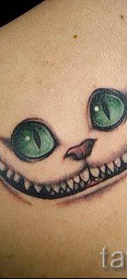 Фото тату Чеширский кот для статьи про значение рисунка татуировки – tatufoto.ru – 64