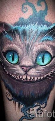 Фото тату Чеширский кот для статьи про значение рисунка татуировки – tatufoto.ru – 67
