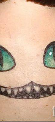 Фото тату Чеширский кот для статьи про значение рисунка татуировки – tatufoto.ru – 69