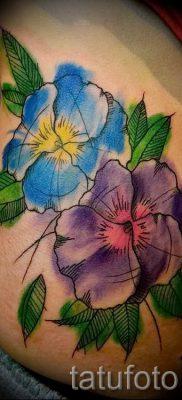 Фото тату анютины глазки для статьи про значение татуировки – tatufoto.ru – 26