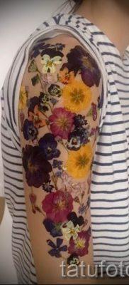 Фото тату анютины глазки для статьи про значение татуировки – tatufoto.ru – 32