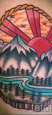 Фото тату горы – для статьи про значение татуировки с рисунком гор – tatufoto.ru – 31