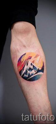 Фото тату горы – для статьи про значение татуировки с рисунком гор – tatufoto.ru – 40