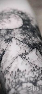Фото тату горы – для статьи про значение татуировки с рисунком гор – tatufoto.ru – 46