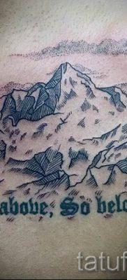 Фото тату горы – для статьи про значение татуировки с рисунком гор – tatufoto.ru – 51