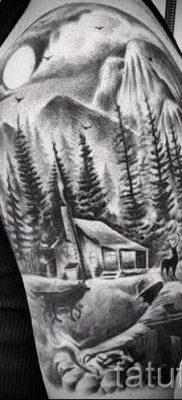 Фото тату горы – для статьи про значение татуировки с рисунком гор – tatufoto.ru – 53