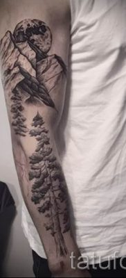 Фото тату горы – для статьи про значение татуировки с рисунком гор – tatufoto.ru – 62