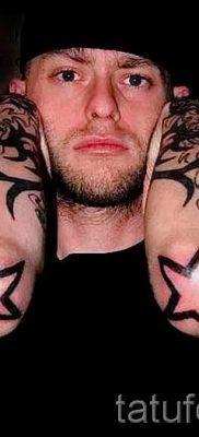 Фото тату звезды на локтях для статьи про значение рисунка татуировки – tatufoto.ru – 5