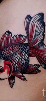 Фото тату золотая рыбка для статьи про значение рисунка татуировки – tatufoto.ru – 5
