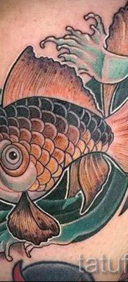 Фото тату золотая рыбка для статьи про значение рисунка татуировки – tatufoto.ru – 13