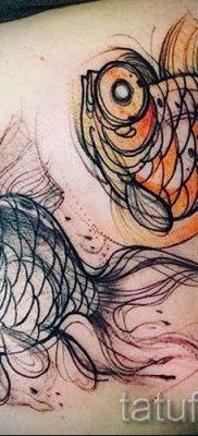 Фото тату золотая рыбка для статьи про значение рисунка татуировки – tatufoto.ru – 18