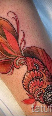 Фото тату золотая рыбка для статьи про значение рисунка татуировки – tatufoto.ru – 19