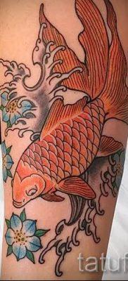 Фото тату золотая рыбка для статьи про значение рисунка татуировки – tatufoto.ru – 20