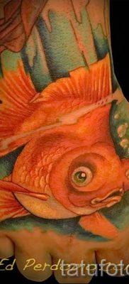 Фото тату золотая рыбка для статьи про значение рисунка татуировки – tatufoto.ru – 29