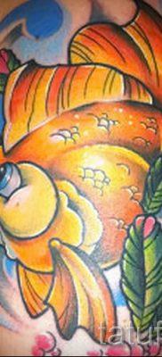 Фото тату золотая рыбка для статьи про значение рисунка татуировки – tatufoto.ru – 49