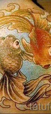Фото тату золотая рыбка для статьи про значение рисунка татуировки – tatufoto.ru – 52