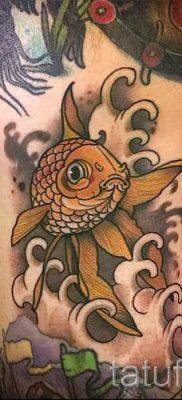 Фото тату золотая рыбка для статьи про значение рисунка татуировки – tatufoto.ru – 56