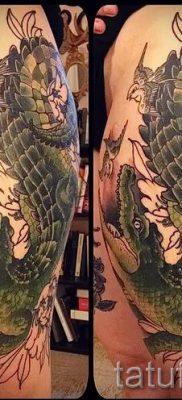 Фото тату крокодил для статьи про значение татуировки крокодил – tatufoto.ru – 10
