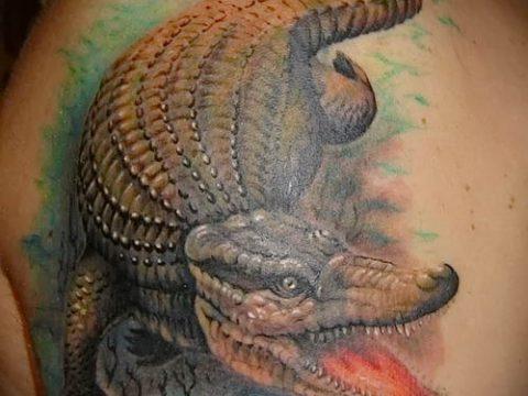 Фото тату крокодил для статьи про значение татуировки крокодил - tatufoto.ru - 20