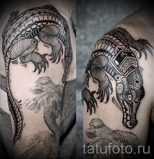 Фото тату крокодил для статьи про значение татуировки крокодил - tatufoto.ru - 27