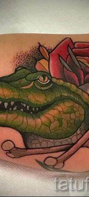 Фото тату крокодил для статьи про значение татуировки крокодил – tatufoto.ru – 30