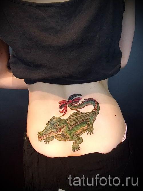 Фото тату крокодил для статьи про значение татуировки крокодил - tatufoto.ru - 33