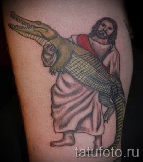 Фото тату крокодил для статьи про значение татуировки крокодил - tatufoto.ru - 37