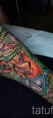 Фото тату крокодил для статьи про значение татуировки крокодил – tatufoto.ru – 42
