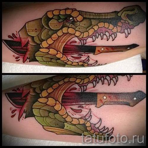 Фото тату крокодил для статьи про значение татуировки крокодил - tatufoto.ru - 44