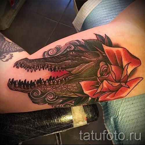 Фото тату крокодил для статьи про значение татуировки крокодил - tatufoto.ru - 50