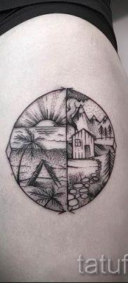 Фото тату круг для статьи про значение татуировки с кругом – tatufoto.ru – 6