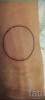 Фото тату круг для статьи про значение татуировки с кругом – tatufoto.ru – 14
