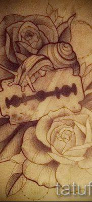 Фото тату лезвие – примеры для статьи про значение лезвия в тату – tatufoto.ru – 35