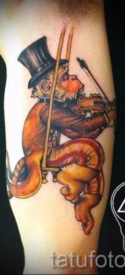 Фото тату обезьяна как пример для статьи про значение татуировки – tatufoto.ru – 1