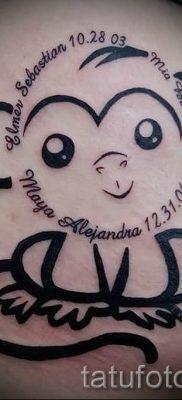 Фото тату обезьяна как пример для статьи про значение татуировки – tatufoto.ru – 6