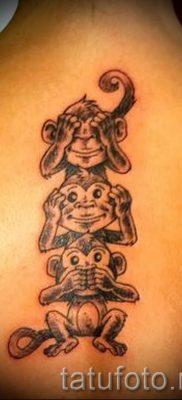 Фото тату обезьяна как пример для статьи про значение татуировки – tatufoto.ru – 7