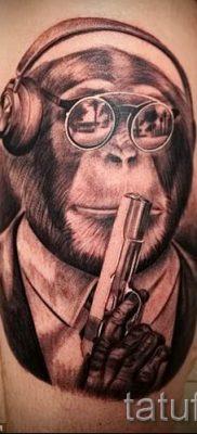 Фото тату обезьяна как пример для статьи про значение татуировки – tatufoto.ru – 9