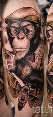 Фото тату обезьяна как пример для статьи про значение татуировки – tatufoto.ru – 11
