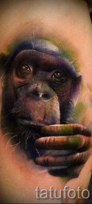 Фото тату обезьяна как пример для статьи про значение татуировки – tatufoto.ru – 14